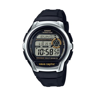 Casio Men's Wave Ceptor Watch WVM60-9ACF, Black 47.7mm