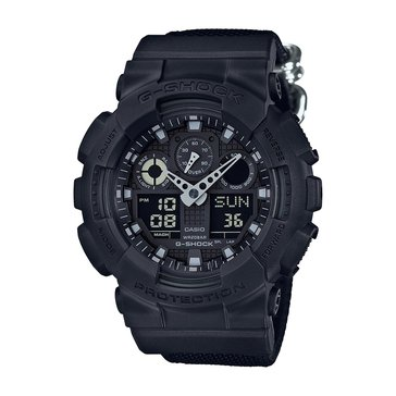Casio G-Shock Men's Military Series Watch GA100BBN-1A, Military Black 55m