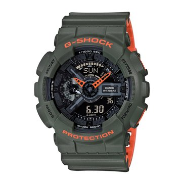 Casio G-Shock Men's Analog Digital Watch GA110LN-3A, Orange/ Khaki 55mm