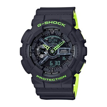 Casio G-Shock Men's Analog Digital Watch GA110LN-8A, Yellow/ Navy 55mm