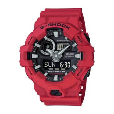 Casio G-Shock Men's Analog Digital Watch GA700-4A, Red 55mm