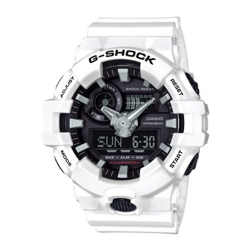 Casio G-Shock Men's Analog Digital Watch GA700-7A, White 55mm