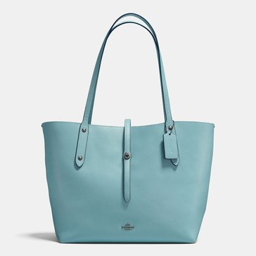 Coach Polished Pebble Market Tote Cloud Mineral