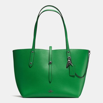 Coach Rebel Charm Market Tote Grass Green Chestnut