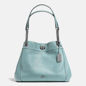 Coach Pebble Turnlock Edie Hobo Cloud