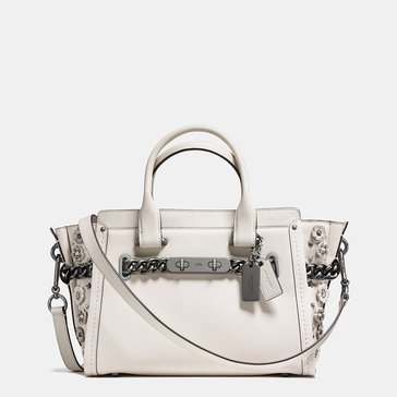 Coach Willow Floral Detail Swagger 27 Satchel Chalk