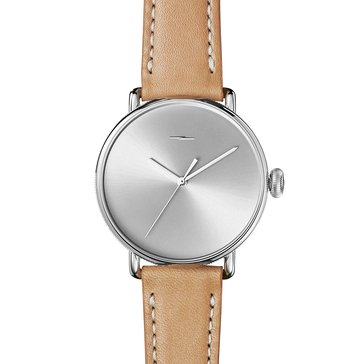 Shinola Men's Bolt Watch S0120052579, Stainless Steel/ Natural Leather 42mm