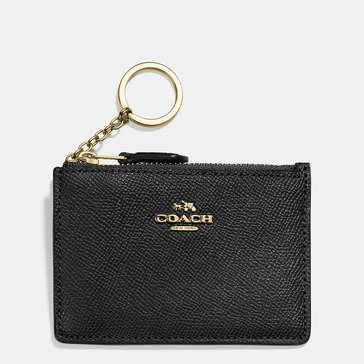 Coach Crossgrain Mini ID Skinny Wallet Black