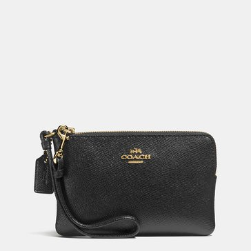 Coach Crossgrain Small Wristlet Black