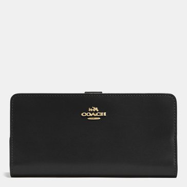 Coach Smooth Leather Skinny Wallet Black