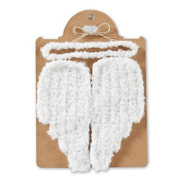 Mudpie Angel Wing With Headband Photo Set - Carded