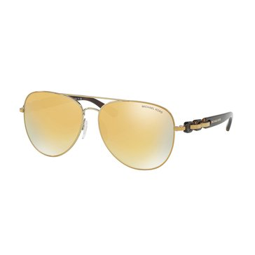 Michael Kors Women's Pandora Sunglasses MK1015, Gold/Liquid Gold 58mm
