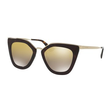 Prada Women's Sunglasses PR 53SS, Tortoise/ Mirror Gold Gradient 52mm