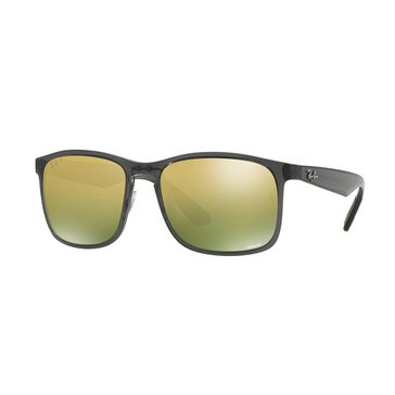 Ray-Ban Men's Chromance Polarized Sunglasses RB4264, Grey/ Green Mirror 58mm