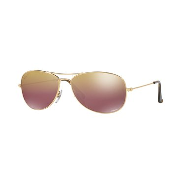 Ray-Ban Men's Chromance Polarized Sunglasses RB3562, Gold/ Purple Mirror 59mm
