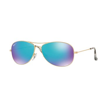 Ray-Ban Men's Chromance Polarized Sunglasses RB3562, Gold/ Blue Mirror 59mm