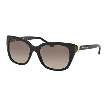 Tory Burch Women's Sunglasses TY7099, Black/ Brown Gradient 56mm