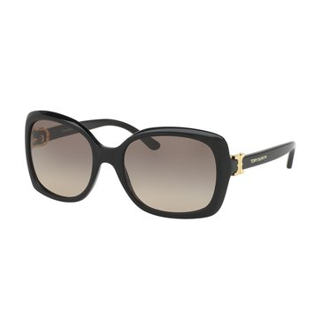 Tory Burch Women's Sunglasses Black/Brown Gradient 57mm