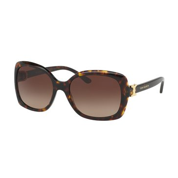 Tory Burch Women's Sunglasses Dark Tortoise/Brown Gradient 57mm