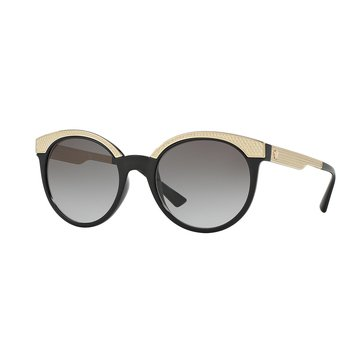 Versace Women's Sunglasses VE4330, Black/ Grey Gradient 53mm
