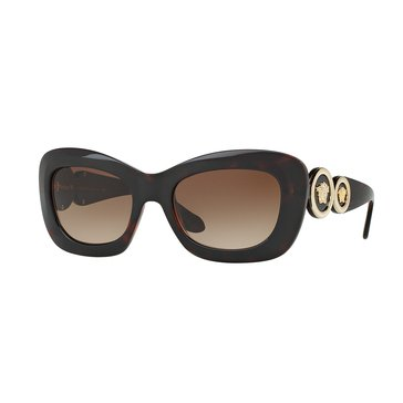 Versace Women's Sunglasses VE4328, Havana/ Brown Gradient 54mm