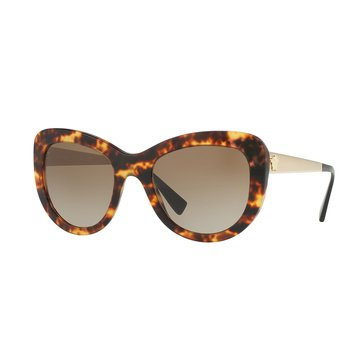 Versace Women's Sunglasses Havana/Brown Gradient 54mm