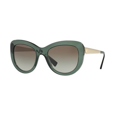 Versace Women's Sunglasses VE4325, Transparent Green/ Green Gradient 54mm