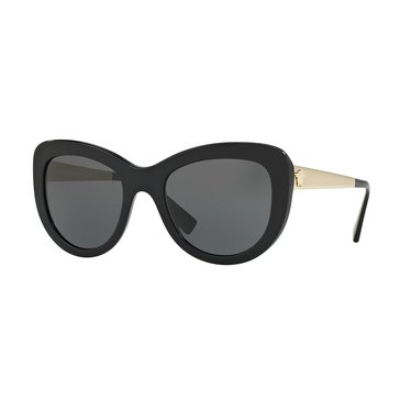 Versace Women's Sunglasses Black/Gray 54mm