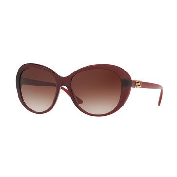 Versace Women's Sunglasses VE4324B, Opal Bordeaux/ Brown Gradient 57mm