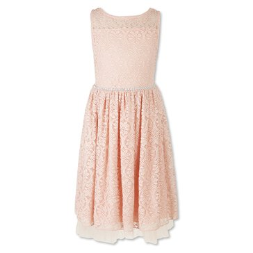Speechless Big Girls' Social Lace Dress, Blush