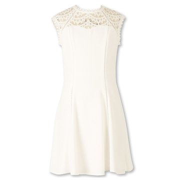 Speechless Big Girls' Lace Dress, Off White