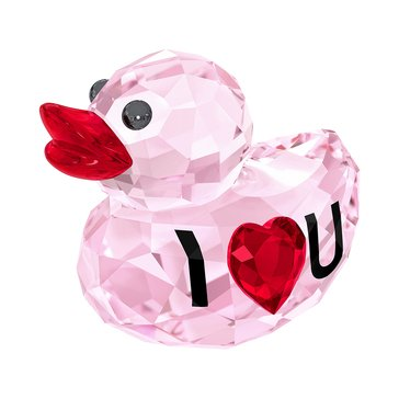 Swarovski Crystal Living 'Happy Duck' I Love You Figurine
