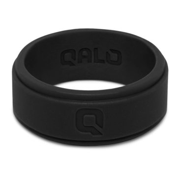 Qalo Men's Flat Step Q2X Band, Black