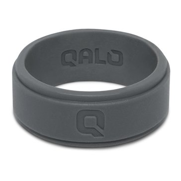 Qalo Men's Flat Step Q2X Band, Charcoal