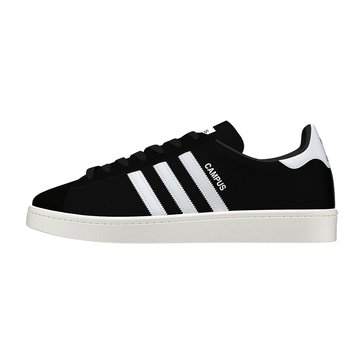 adidas Campus Men's Court Shoe - Core Black / Footwear White / Chalk White