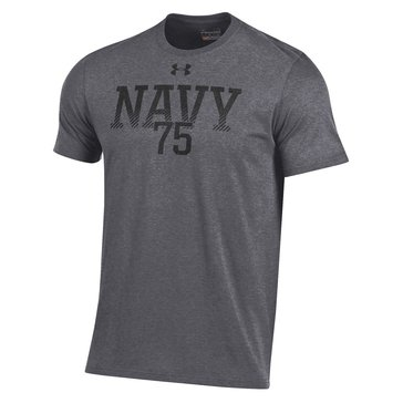 Under Armour Men's USN 75 Gradient Charged Cotton Short Sleeve Tee - Carbon