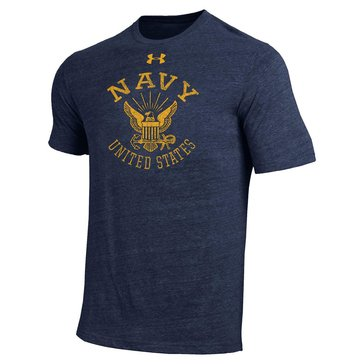 Under Armour Men's USN Eagle Triblend Short Sleeve Tee - Navy