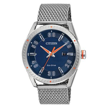 Citizen Men's Drive CTO Blue/Stainless Steel Watch, 42mm
