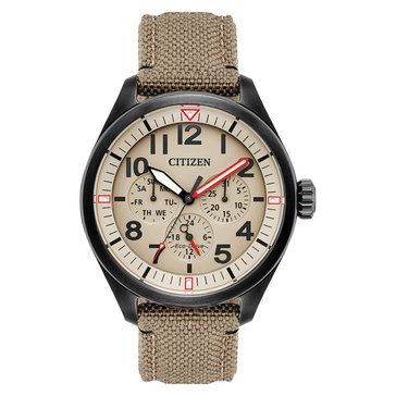 Citizen Men's Chandler Eco-Drive Sand/Khaki Cordura Watch, 42mm
