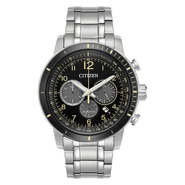 Citizen Men's Brycen Eco-Drive Black/Stainless Steel Watch, 44mm