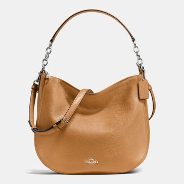 Coach Pebble Chelsea 32 Hobo Saddle