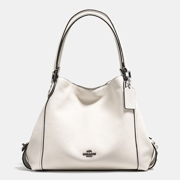 Coach Star Rivet Detail Edie 31 Hobo Chalk