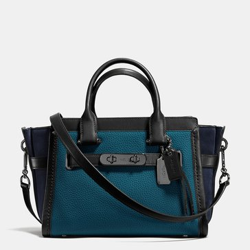 Coach Mixed Leather Swagger 27 Mineral Black