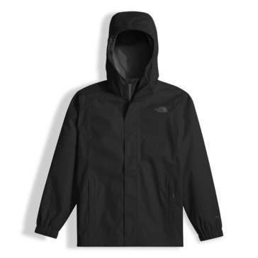 The North Face Big Boys' Resolve Rain Jacket, Black