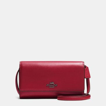 Coach Smooth Leather Phone Crossbody Cherry