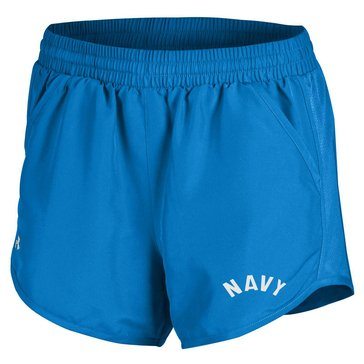 Under Armour Woman's USN Run Shorts - Powder Keg Blue