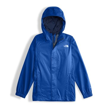 The North Face Big Boys' Resolve Reflective Rain Jacket, Blue