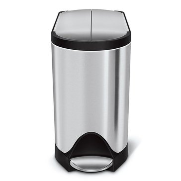 simplehuman 10 Liter Brushed Stainless Steel Butterfly Step Can, R Liner