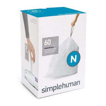 simplehuman Custom Fit N Liners, 60 Pack