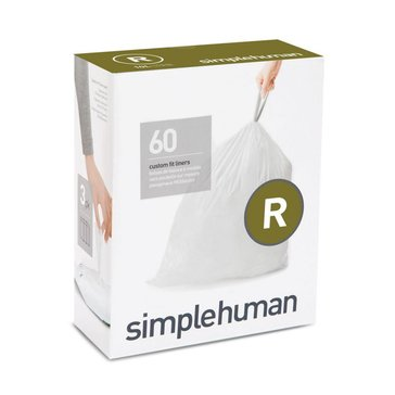 simplehuman Custom Fit R Liners, 60 Pack